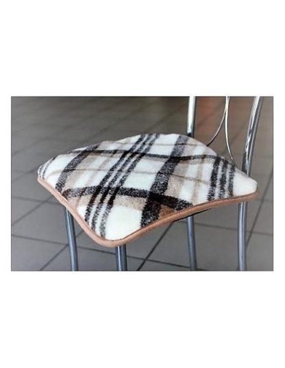 накидка на стул КЛЕТКА из шерсти-1
